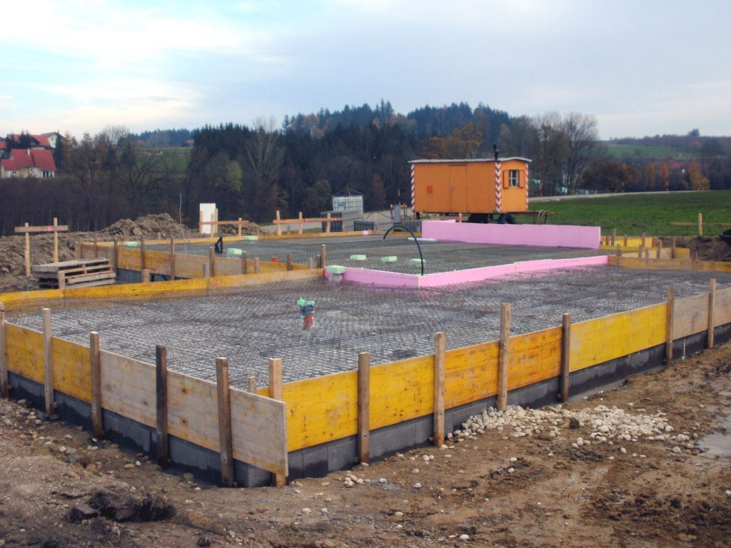 Fertighaus Bodenplatte, Bodenplatte, Fundament, Keller, Innviertel, Oberösterreich