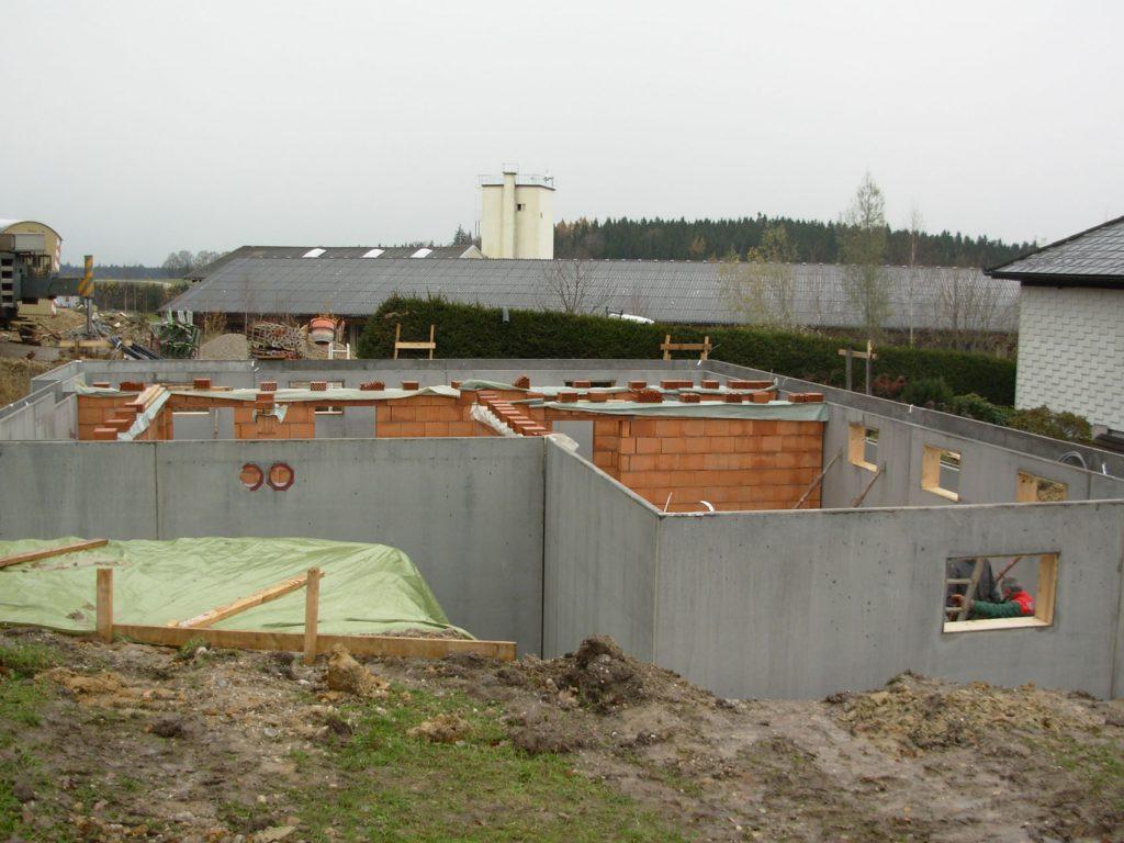 Fertigkeller, Bodenplatten, Fertighäuser, Fertigbeton, Innviertel, OÖ